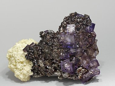 Fluorite with Sphalerite and Baryte. Side