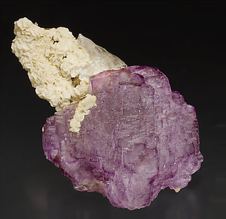 Fluorite with Dolomite, Muscovite and Quartz. Top