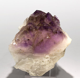 Quartz (variety amethyst) with Quartz.