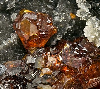 Sphalerite with Quartz and Calcite.
