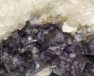 Fluorite with Calcite and Baryte.