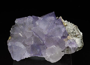 Fluorite with Calcite, Pyrite and Quartz. Rear