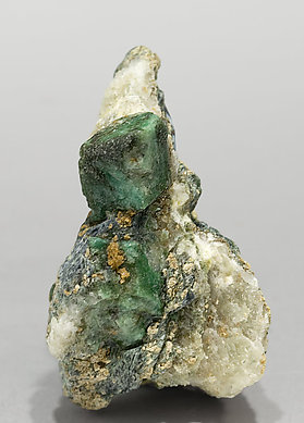 Chromium rich Lawsonite with Glaucophane.