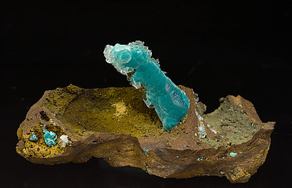 Rosasite with Calcite.