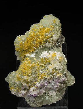 Fluorite with Wulfenite.
