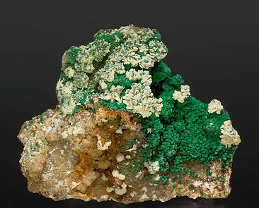 Malachite with Mimetite.