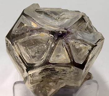 Sceptered Quartz (variety amethyst) and smoky Quartz. Top