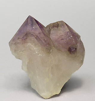 Quartz (variety amethyst) with Microcline.