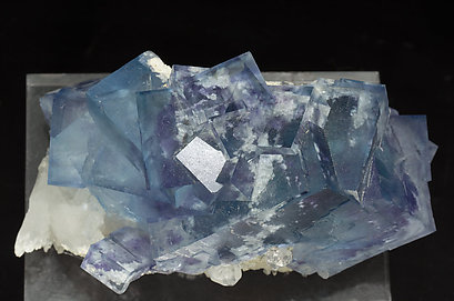 Fluorite with Quartz and inclusions. Top