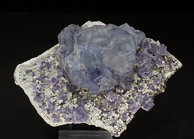 Fluorite with Muscovite, Quartz and Arsenopyrite.