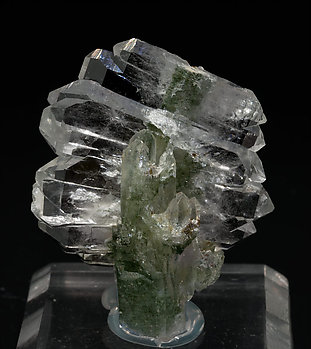 Quartz (variety faden) with Chlorite inclusions.