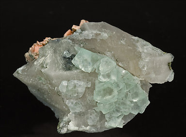 Fluorite with Quartz and Orthoclase. Front