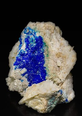 Linarite with Quartz. Side