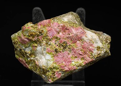 Clinozoisite with Quartz and Garnet.