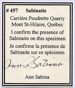 Sabinaite with Analcime and Aegirine