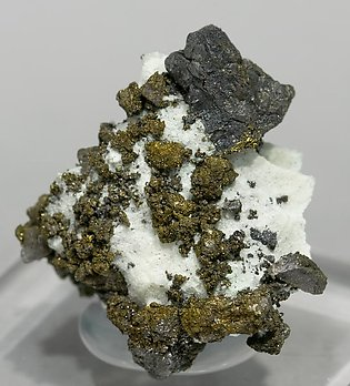 Villamanínite with Calcite. Side