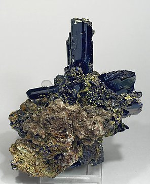 Azurite with Cerussite. Front