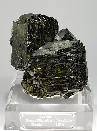 Doubly terminated Epidote with Quartz and Andradite.