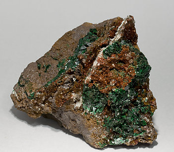 Malachite with Quartz.
