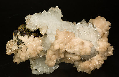 Olmiite with Calcite. Side