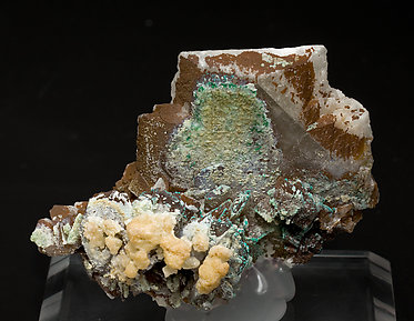 Baryte with Dioptase. Rear