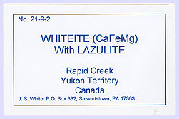 Whiteite-(CaFeMg) with Siderite, Lazulite and Quartz