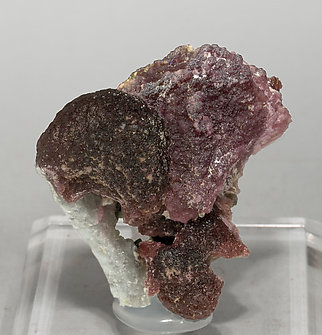 Elbaite (variety rubellite) with Quartz and Schorl.