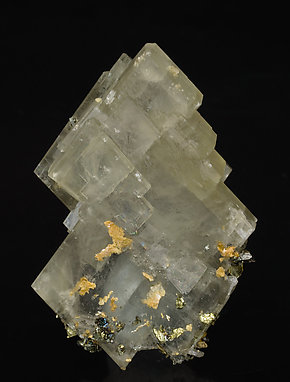Barite with Chalcopyrite. Rear