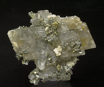 Barite with Marcasite, Chalcopyrite and Siderite.