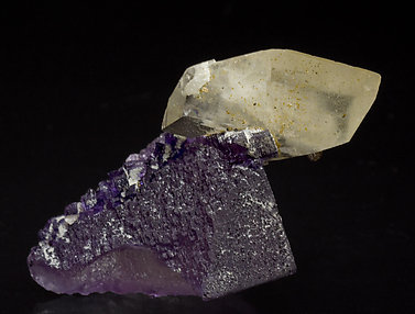 Fluorite with Calcite and Sphalerite. Front