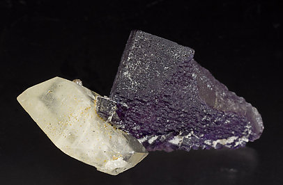 Fluorite with Calcite and Sphalerite. Side