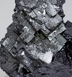 Bixbyite with Hausmannite and Celestine.
