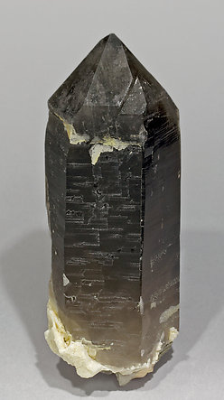 Smoky Quartz with Microcline and Albite. Rear