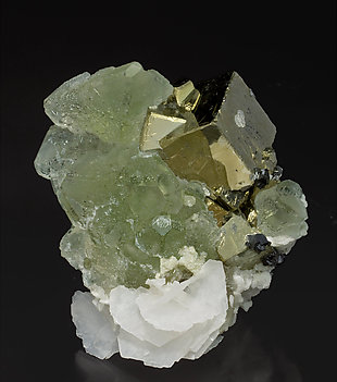 Fluorite with Pyrite, Sphalerite and Calcite.