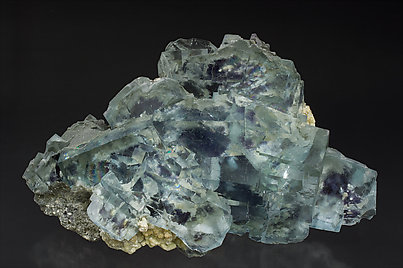 Fluorite with Muscovite. Front