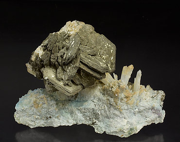 Pyrrhotite with Pyrite and Quartz.
