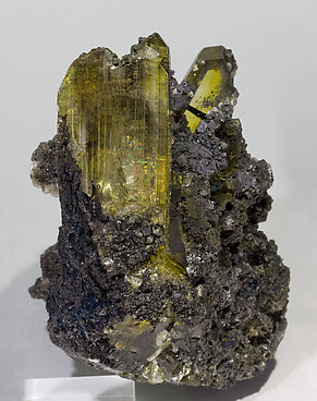 Anglesite with Cerussite and Galena. Front