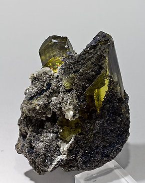 Anglesite with Cerussite and Galena. Side
