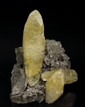 Calcite with Dolomite and Chalcopyrite. Front