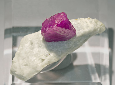 Corundum with Calcite. Top