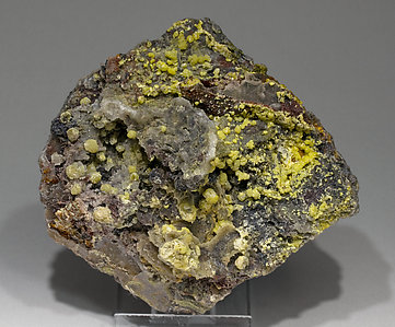 Mimetite with Quartz and Siderite.