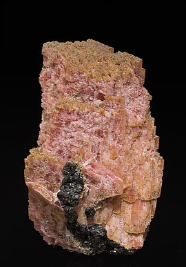Rhodonite with Magnetite and manganoan Tremolite. Rear