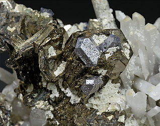 Pyrrhotite with Galena and Quartz.