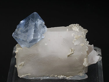 Octahedral Fluorite with Calcite. Front