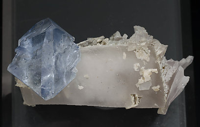 Octahedral Fluorite with Calcite. Top