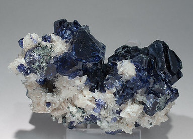 Phenakite with Fluorite and Orthoclase (adularia).