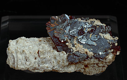 Hematite with Rutile.