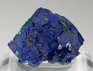 Azurite with Malachite. Rear