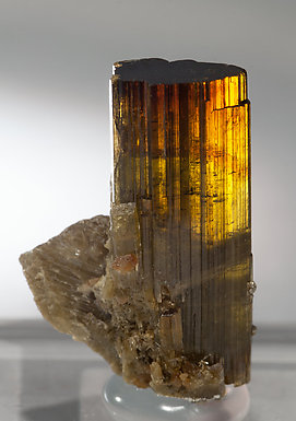 Vesuvianite. Light behind