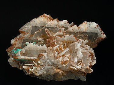 Baryte with Dioptase.